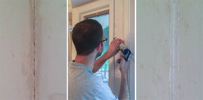 Add caulk to make your walls have a finished look