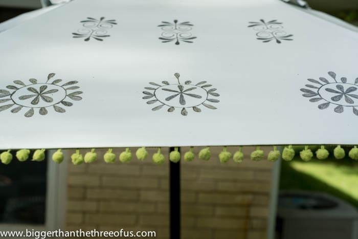 Close Up of hand painted Umbrella
