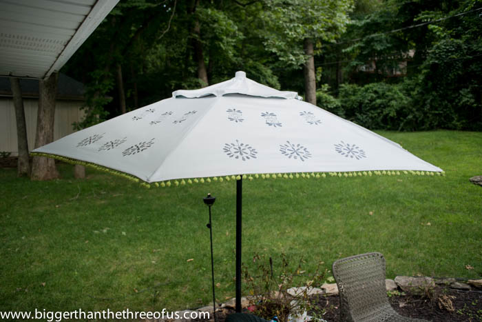 Patio Umbrella Knock Off By Bigger Than The Three Of Us