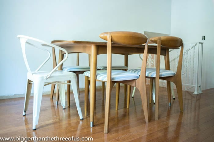 Danish Modern Dining Room Table and Chairs by Bigger Than The Three OF Us Kitchen Remodel