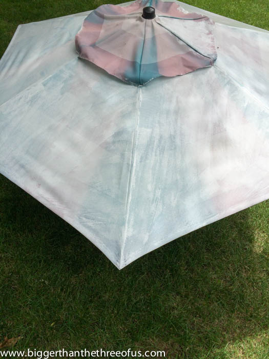 Patio Umbrella Makeover Featuring How To Paint An Umbrella