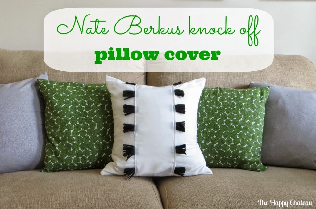 Nate Berkus knock off pillow cover 1 - The Happy Chateau