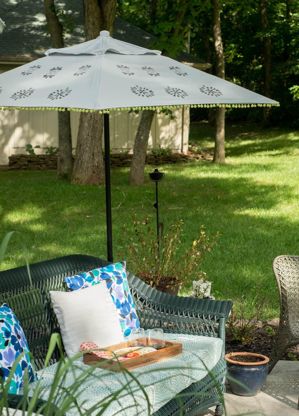 Patio Umbrella Repair and Refresh