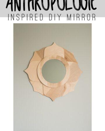 Anthropologie Inspired DIY Mirror