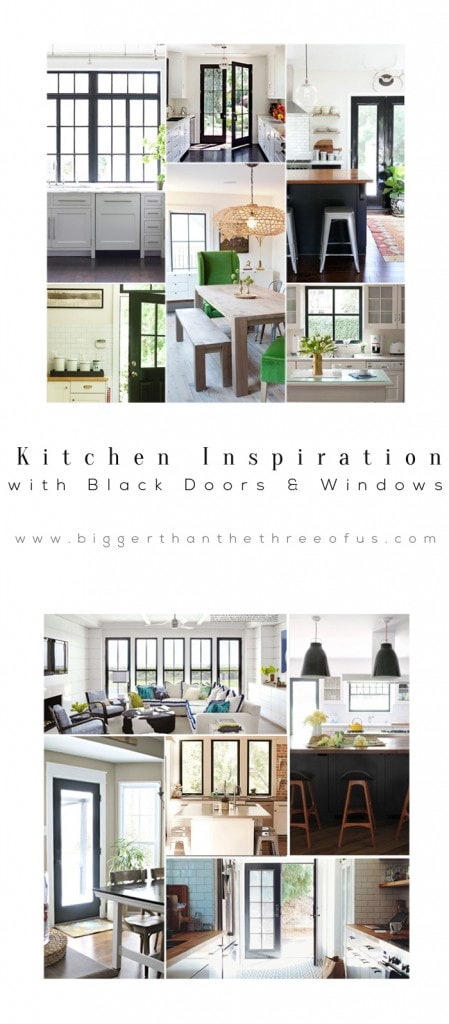 Black Trim and Doors in Kitchen By Bigger Than The Three of Us