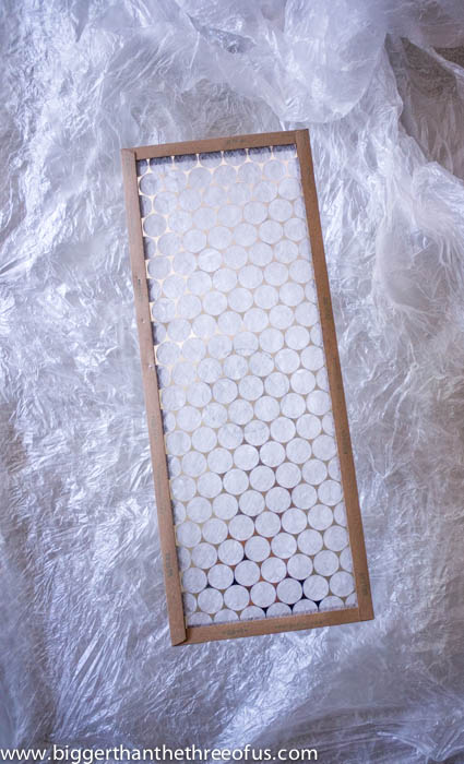 Air Filter DIY Wall Art