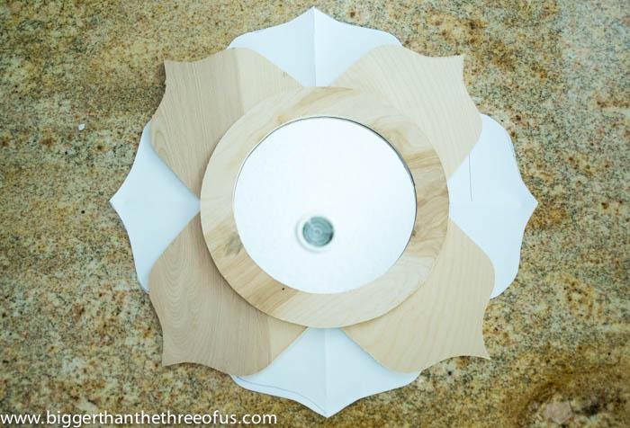 Lotus Mirror DIY inspired by Anthro