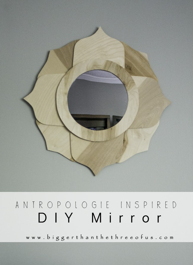 DIY Lotus Inspired Wood Mirror by Bigger Than The Three Of Us