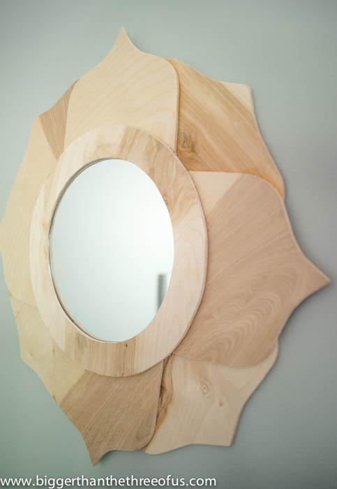 DIY Wood Mirror by Bigger Than The Three OF Us