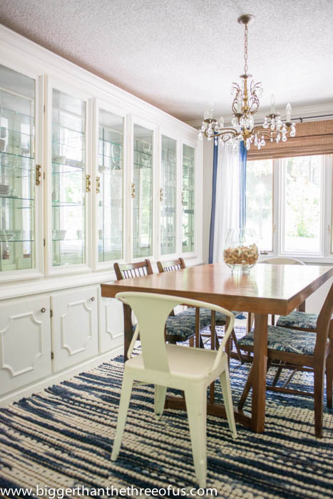 China built-in in the formal dining room