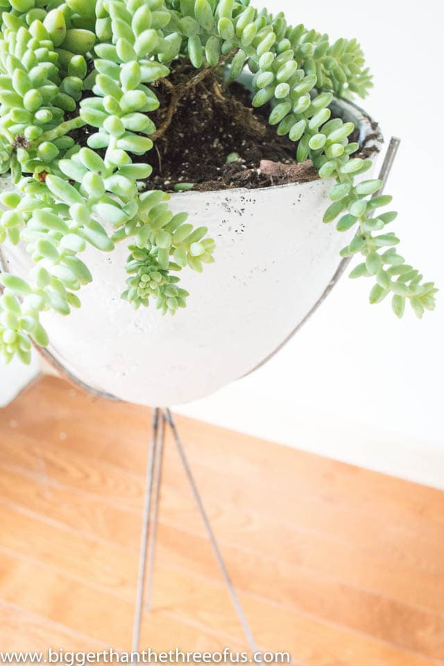 Mid Century Planter Tutorial by Bigger Than The Three Of Us