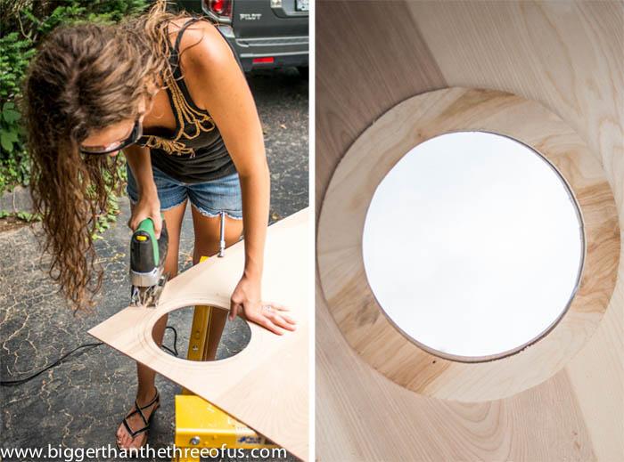 Anthropologie Inspired Lotus Mirror DIY