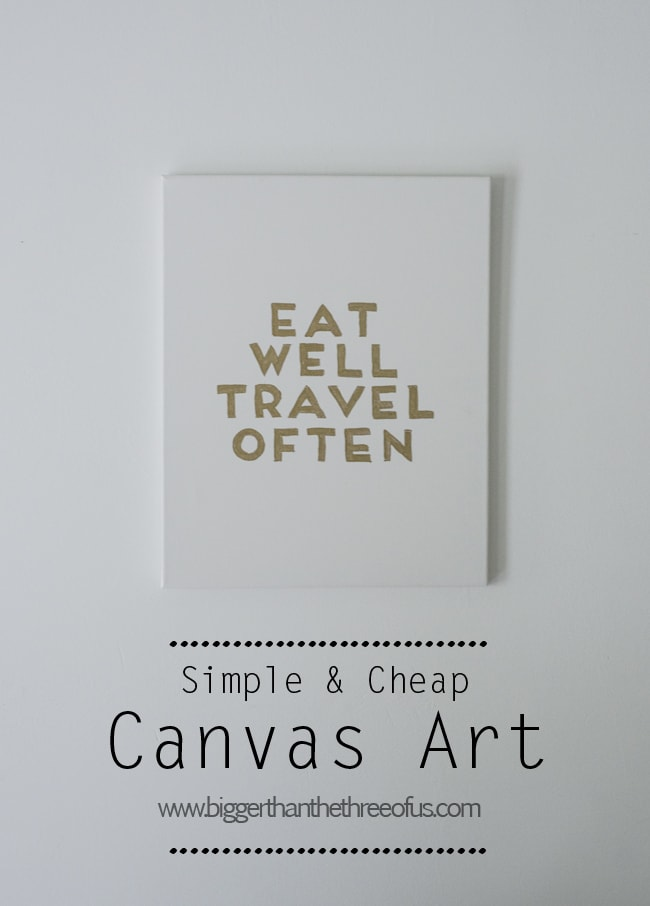 SimpleandEasy Canvas Art Tutorial with Words by Bigger Than The Three Of Us