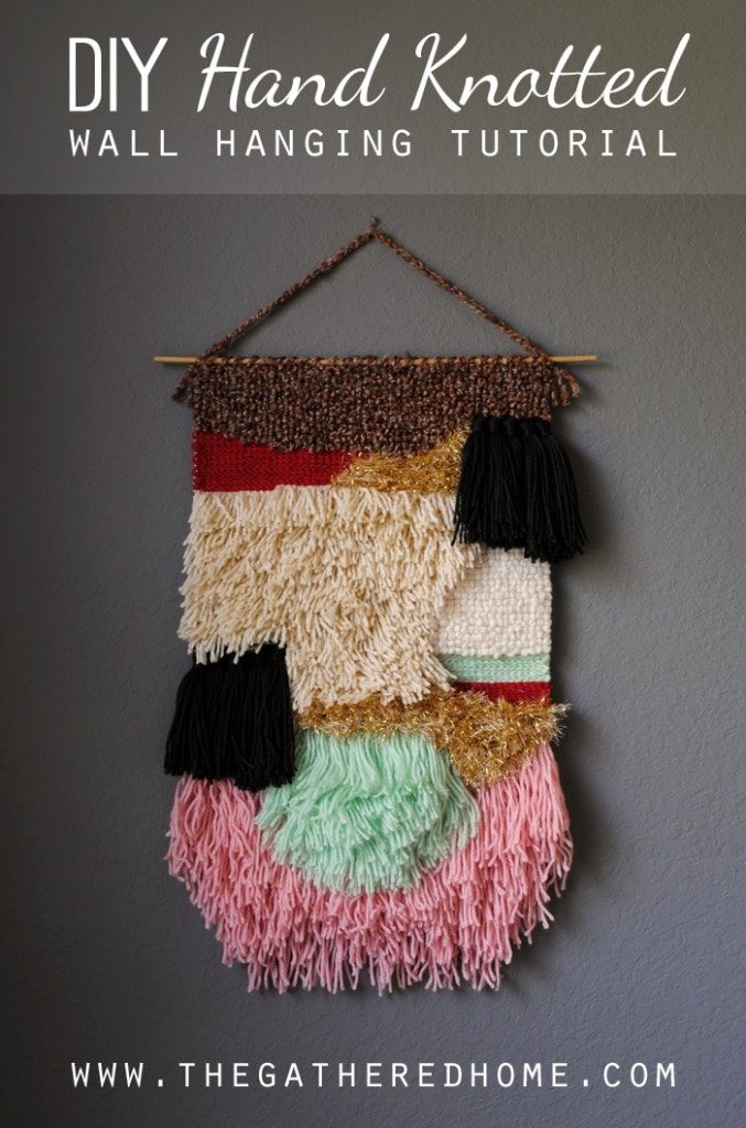diy handknotted wall hanging tutorial2
