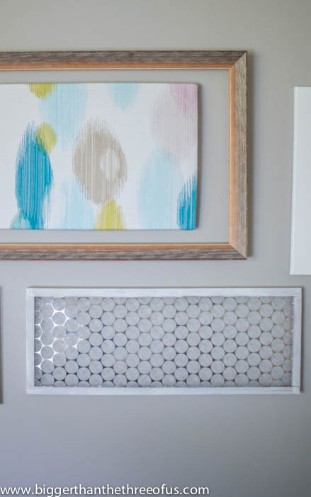 Transform an old air filter to a gallery wall piece