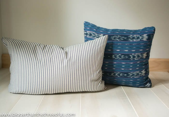 Upcycled Pillows made out of Ill-fitting clothing