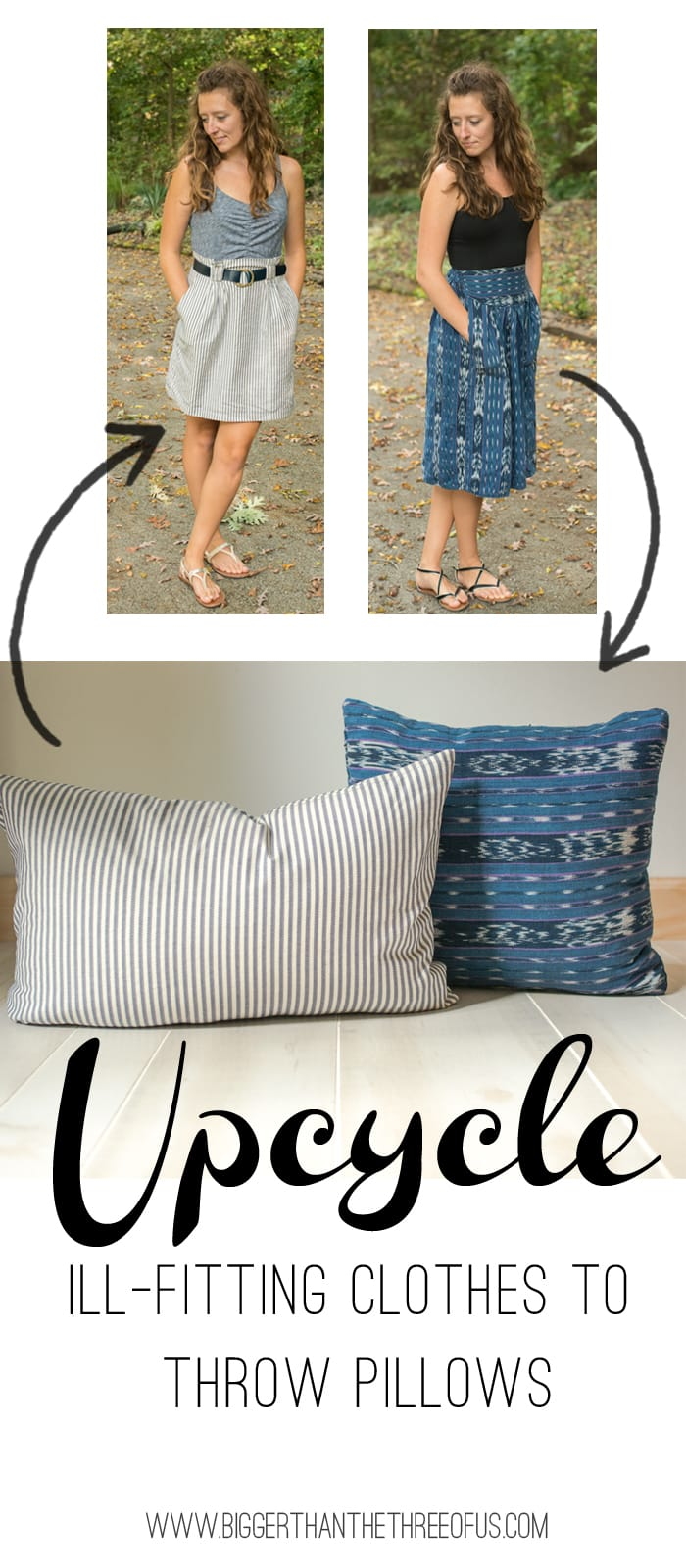 Upcycle Ill Fitting Clothes to Throw Pillows
