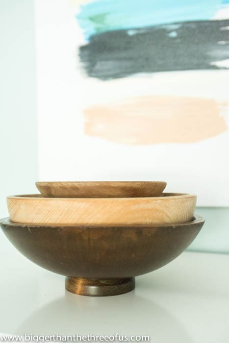 Thrifted Wooden Bowls for bedroom