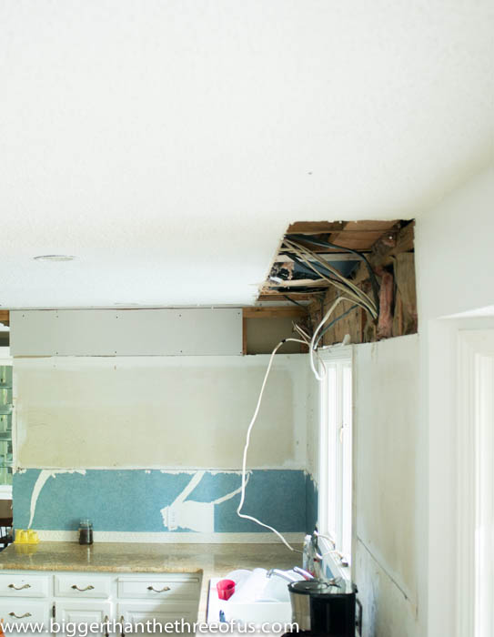Updating your kitchen by taking out a soffit