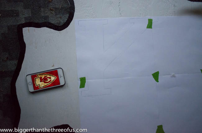 Do IT Yourself NFL Artwork for the Wall Kansas City Chiefs Arrowhead Wall Hanging for Front Porch-10