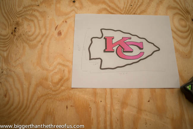 Do IT Yourself NFL Artwork for the Wall Kansas City Chiefs Arrowhead Wall Hanging for Front Porch