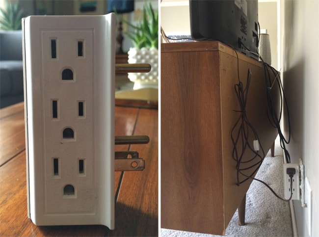 Electrical outlets for hiding cords