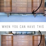 Hide Those Cords - Need help hiding cords behind your media cabinet? Look no further.