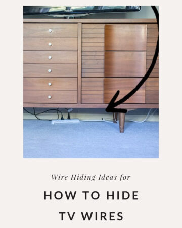 how to hide electrical cords on wall