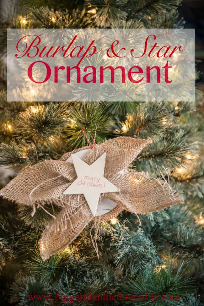 Burlap and Star Ornament DIY-1