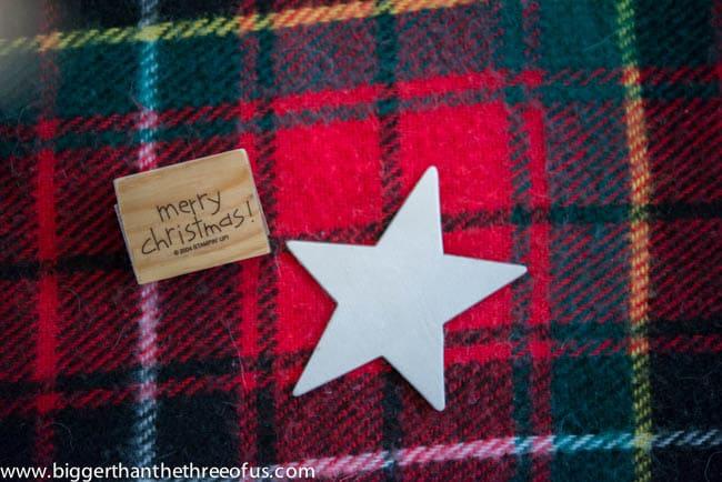 Burlap and Wooden Star DIY Ornament -1