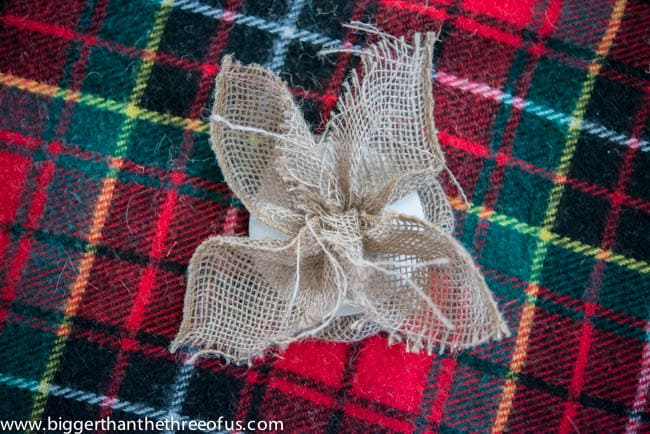 Burlap and Wooden Star DIY Ornament -4