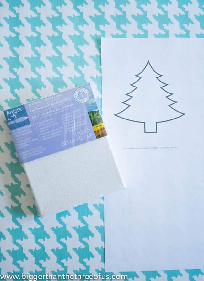 Canvas Tree Ornament Tutorial by Bigger Than The Three Of Us-3