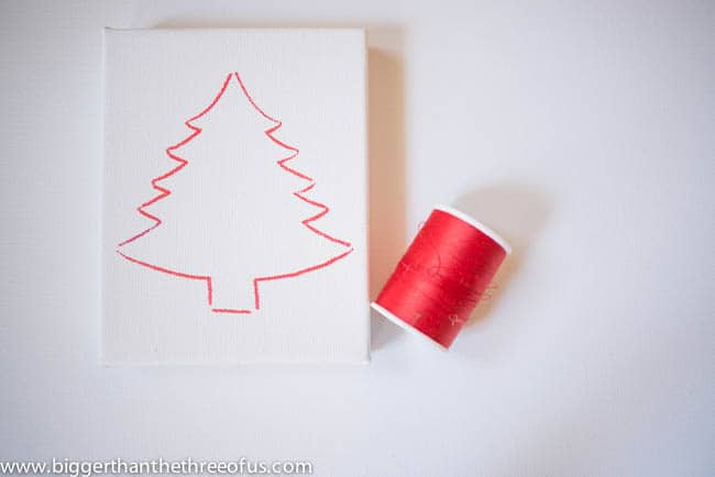 Canvas Tree Ornament Tutorial by Bigger Than The Three Of Us-4
