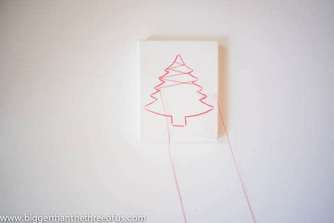 Canvas Tree Ornament Tutorial by Bigger Than The Three Of Us-5