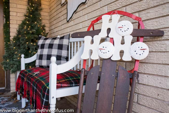 Christmas Decor on Front Porch -10