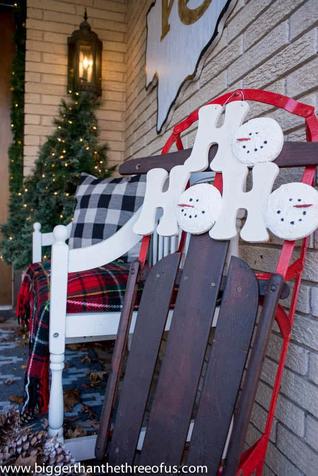 Christmas Decor on Front Porch -9