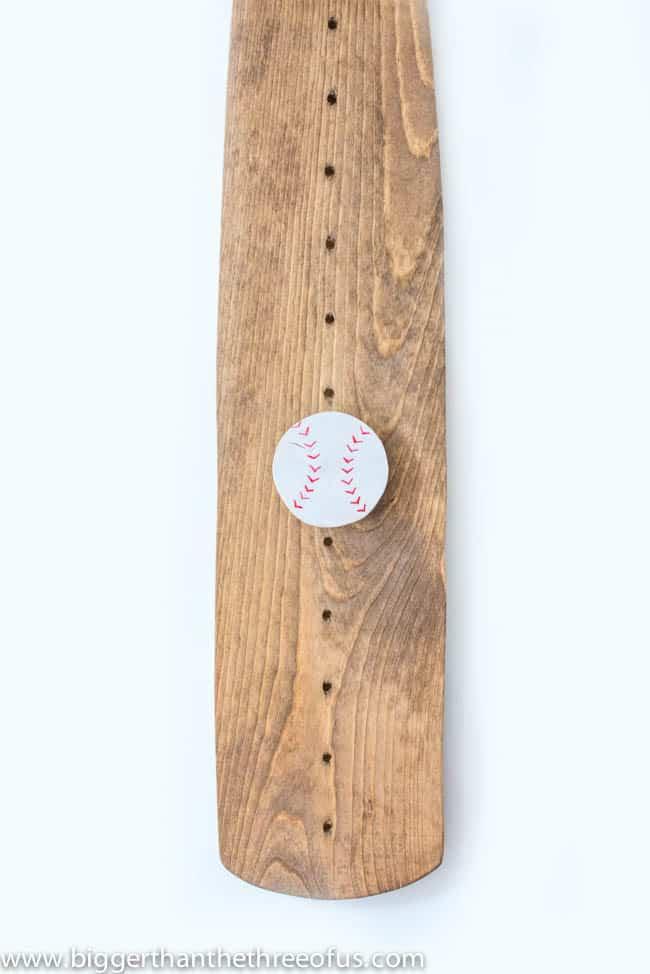 DIY Baseball Bat Growth Chart for Nursery-1-2