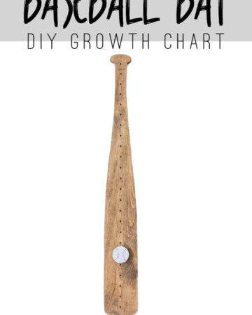 Add this Baseball Bat Growth Chart to your nursery! This How To Tutorial will show you how.