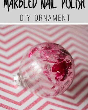 Use old nailpolish to make this DIY Marbled Ornament!