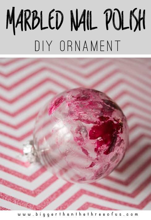 Use old nailpolish to make this DIY Marbled Ornament!