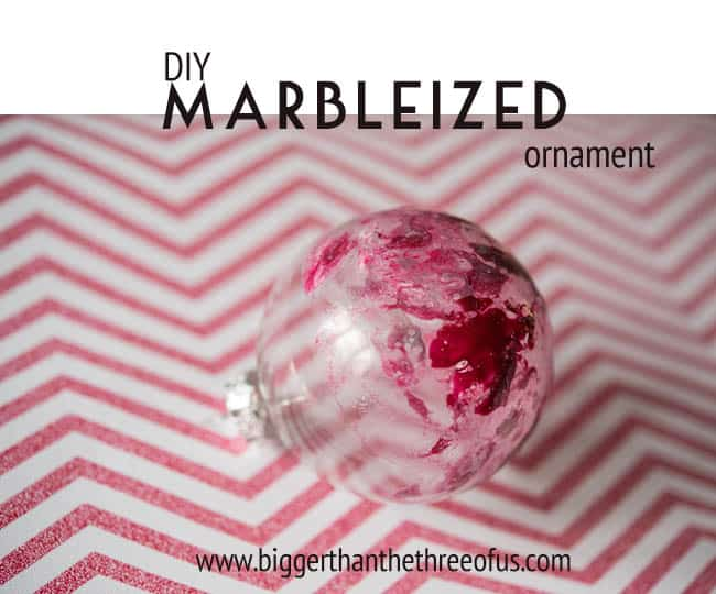DIY Marbleized Ornament by Bigger than The Three Of Us-1