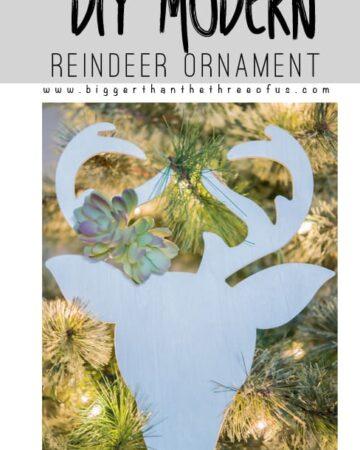 DIY Modern Reindeer Ornament Tutorial