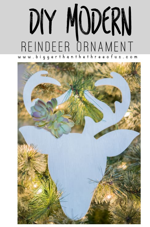 DIY Modern Reindeer Ornament Tutorial