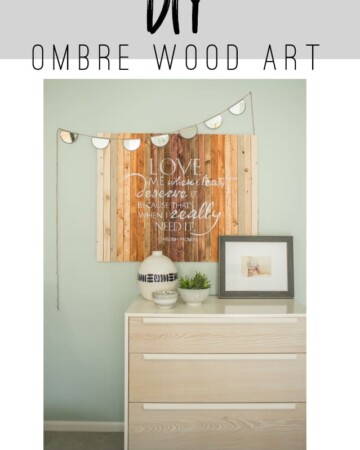 DIY Ombre Wood Art - This tutorial will show you how to make your own DIY Ombre Wood Art