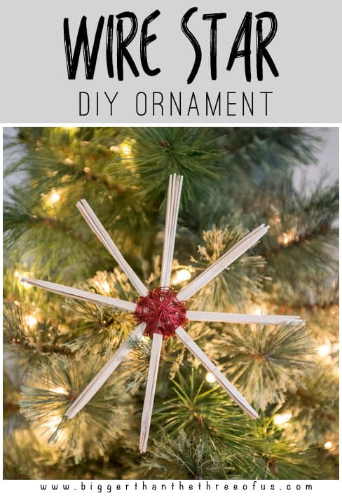 Make this simple DIY Wire Star Ornament