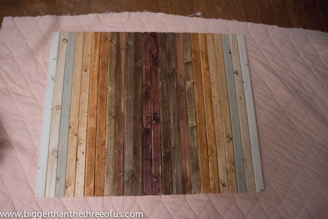 DIY Wood Art with Painted Quote for Master Bedroom By Bigger Than The Three of Us-9