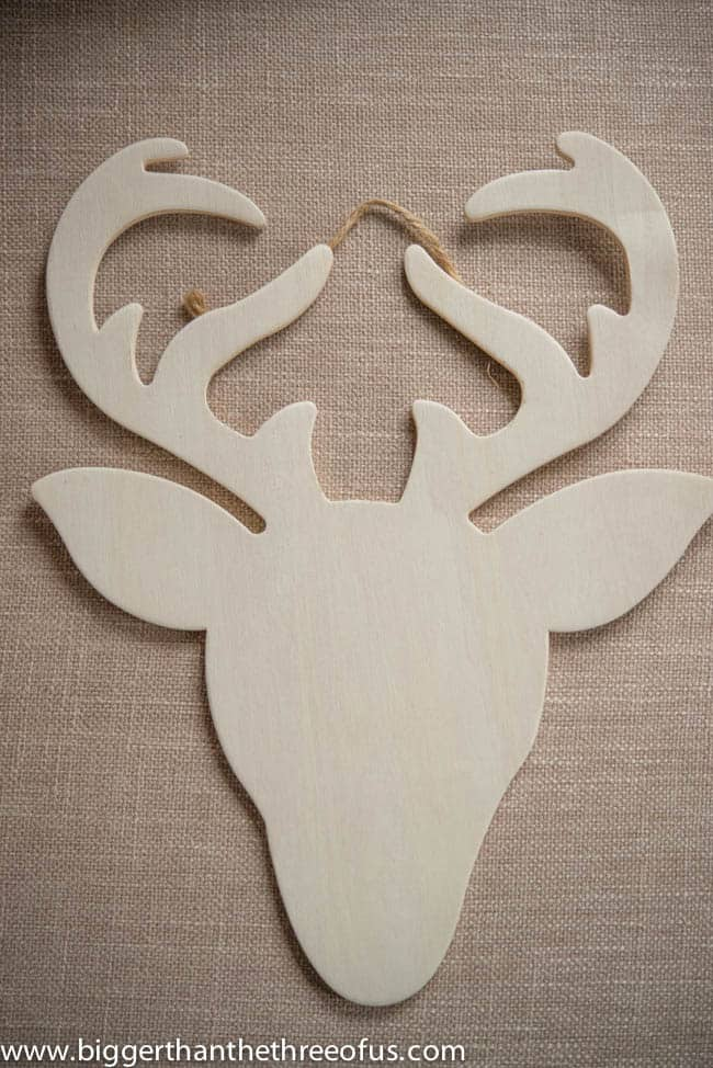 DIY Wooden Reindeer with Succulent Antlers Ornament by Bigger Than The Three Of Us-1