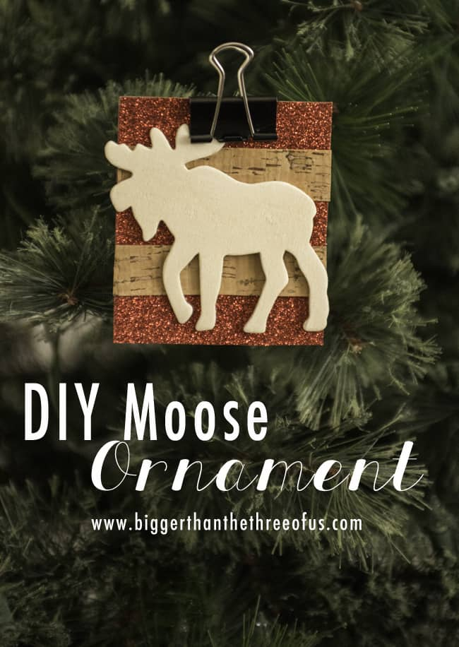 DIY moose Ornament using Scrapbook Paper