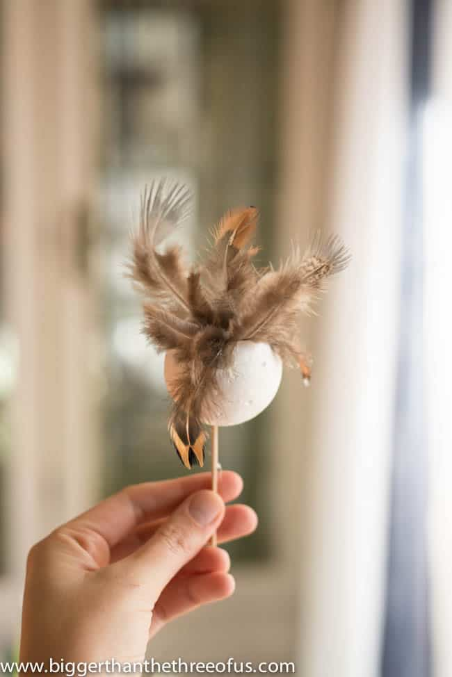 Feather Ball Ornament DIY-1