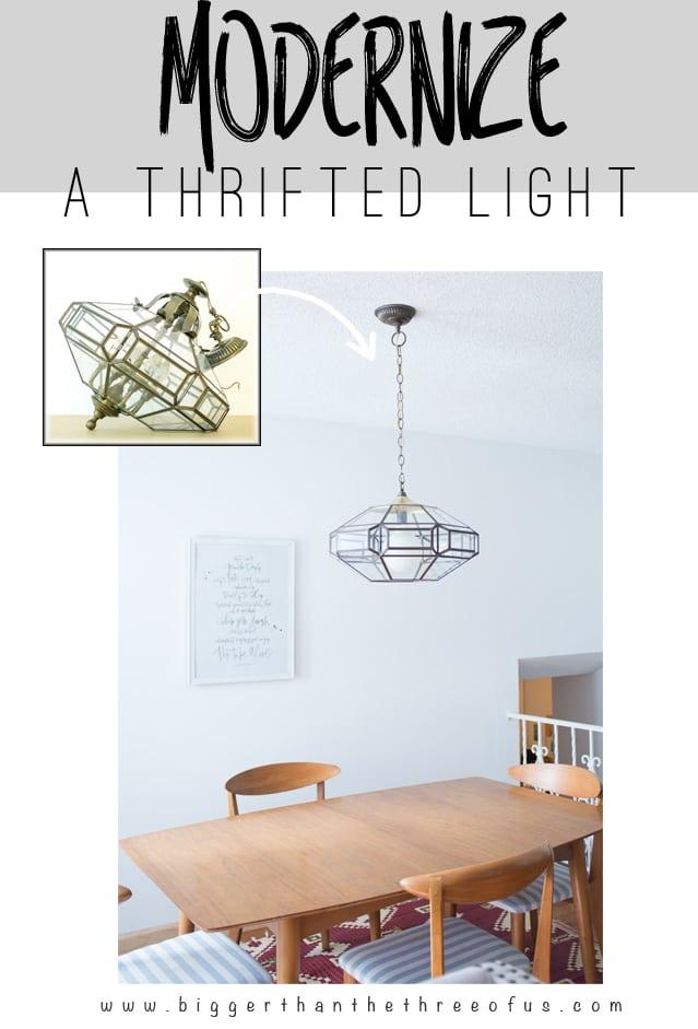 Upcycled Thrift Store Light